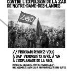 Suite à l'attaque de la Zad, Rdv le 13/04 à Gap
