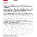 Communiqué de plusieurs syndicats du 05
