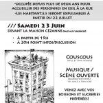 Soirée de soutien à la Maison Cézanne samedi 23 juin 19h à Gap