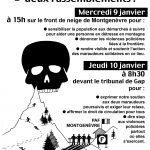 10 janvier, procès contre 2 nouveaux solidaires = 2 rassemblements