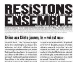 """""""Résistons ensemble"""" contre les violences policières et sécuritaires N°180"""