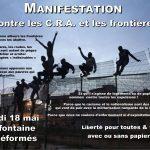 Manifestation contre les C.R.A. et les frontières