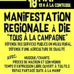 """Manif' régionale gilets jaunes """"tous à la campagne"""""""