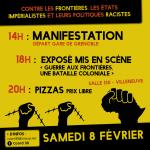 Manifestation en commémoration aux personnes mort.e.s aux frontières et contre les frontières, les États impérialistes et leurs politiques racistes